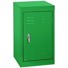 15 Inch L x 15 Inch D x 24 Inch H Single Tier Welded Steel Locker in Primary Green
