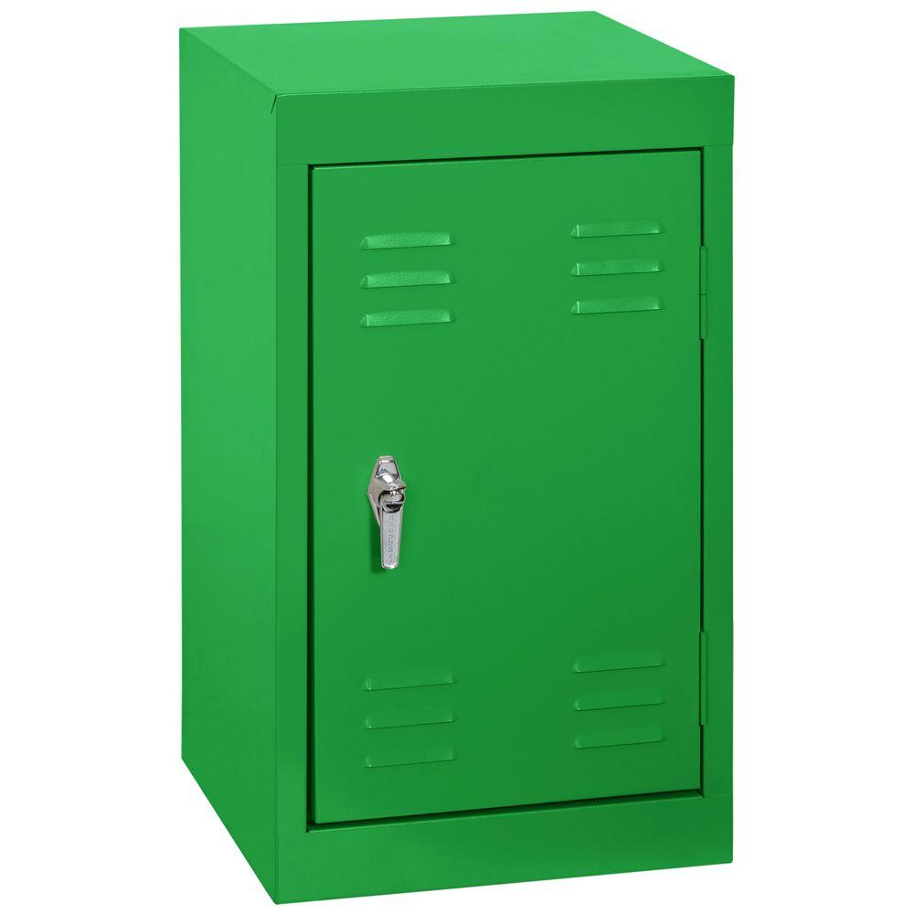 15 po L x 15 x 24 po in.D H Single Tier soudés en acier Locker en vert primaire