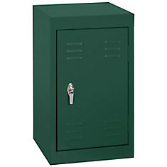 15 Inch L x 15 Inch D x 24 Inch H Single Tier Welded Steel Locker in Forest Green