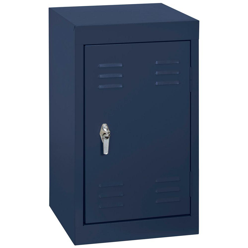 15 Inch L x 15 Inch D x 24 Inch H Single Tier Welded Steel Locker in Navy Blue