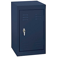 15 Inch L x 15 Inch D x 24 Inch H Single Tier Welded Steel Locker in Navy Blue
