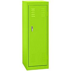 15 Inch L x 15 Inch D x 48 Inch H Single Tier Welded Steel Locker in Electric Green