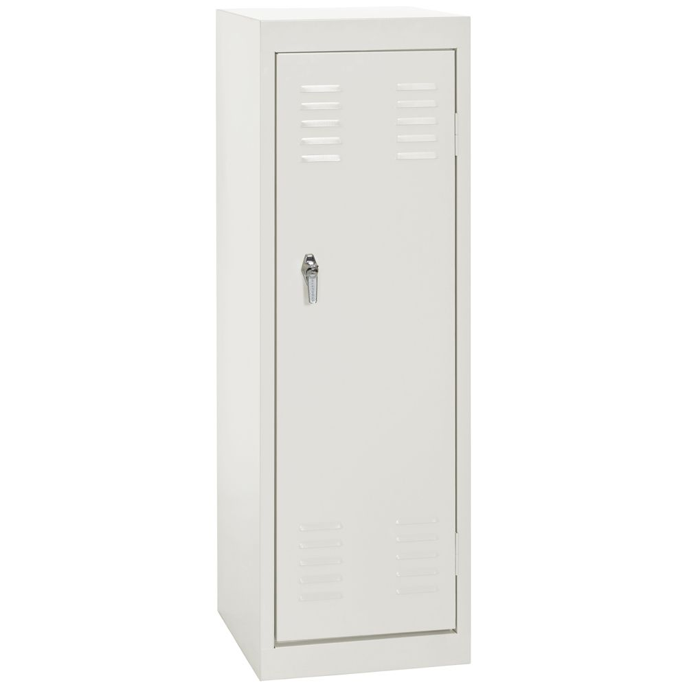 15 Inch L x 15 Inch D x 48 Inch H Single Tier Welded Steel Locker in White LF11151548-22 Canada Discount