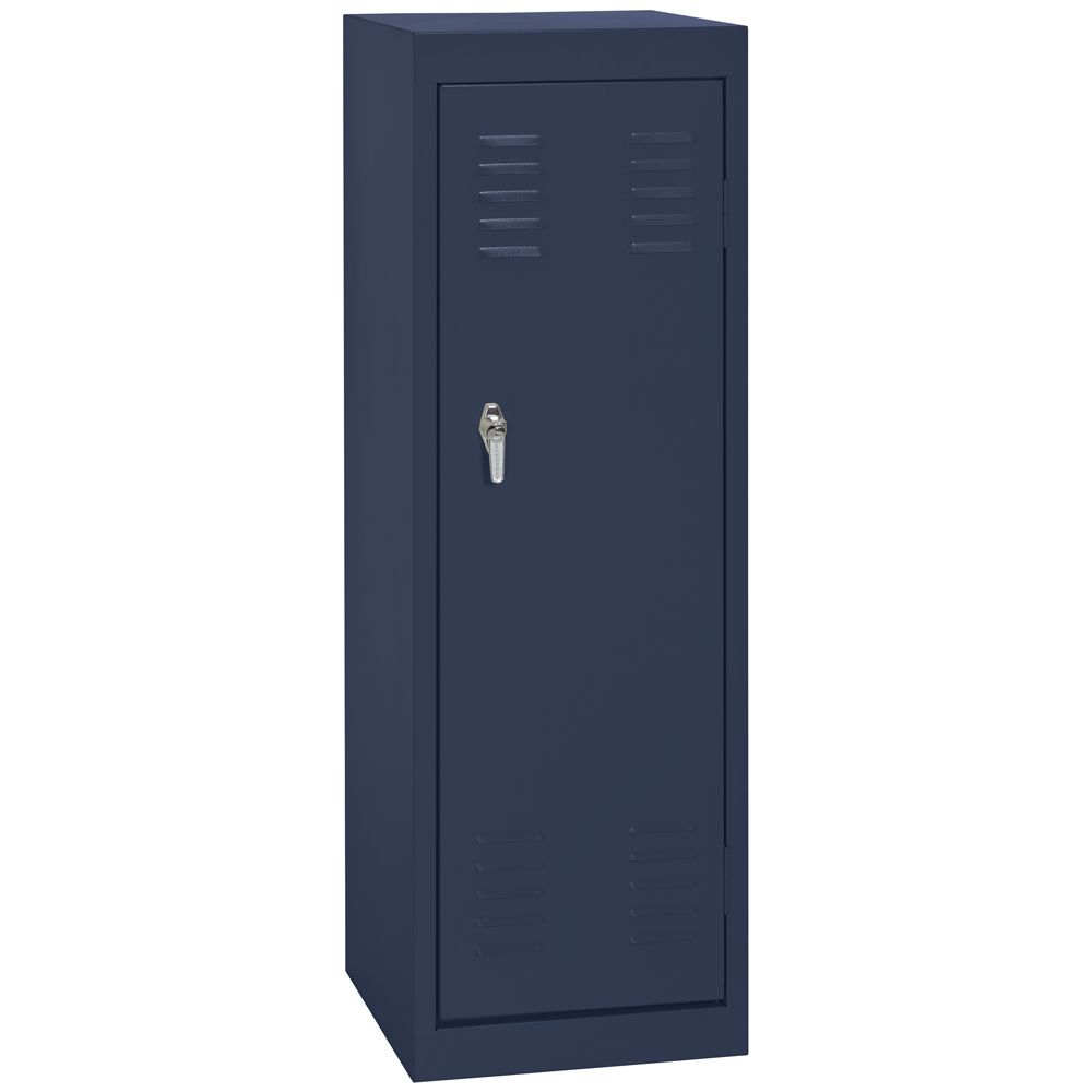 15 Inch L x 15 Inch D x 48 Inch H Single Tier Welded Steel Locker in Navy Blue
