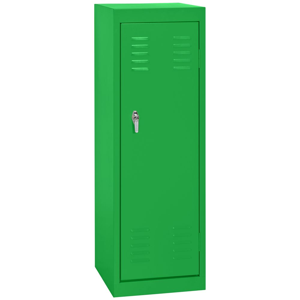 15 Inch L x 15 Inch D x 48 Inch H Single Tier Welded Steel Locker in Primary Green
