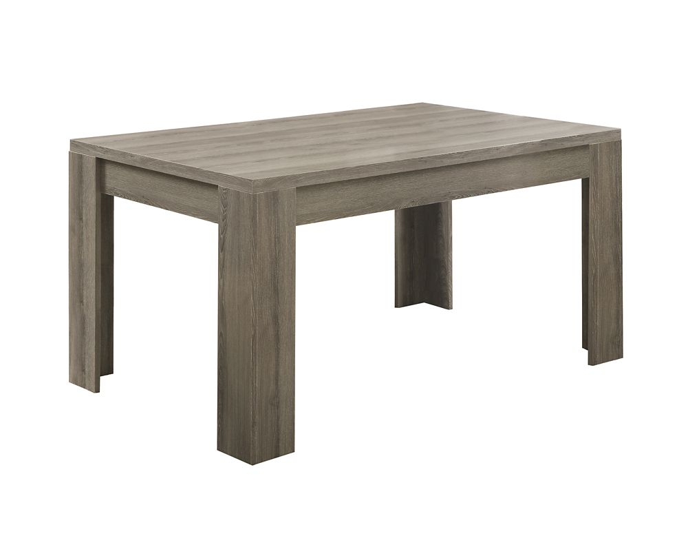 monarch specialties table a manger 36 x 60 taupe fonce home depot canada. Black Bedroom Furniture Sets. Home Design Ideas