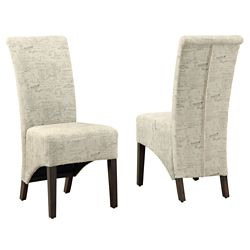 Monarch Specialties Vintage 40-inch H Parson Dining Chair Set in Vintage French Fabric (Set of 2)