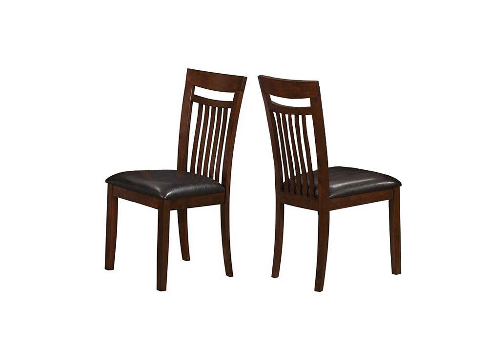 "Dining Chair - 2Pcs / 39""H / Antique Oak / Brown Seat"