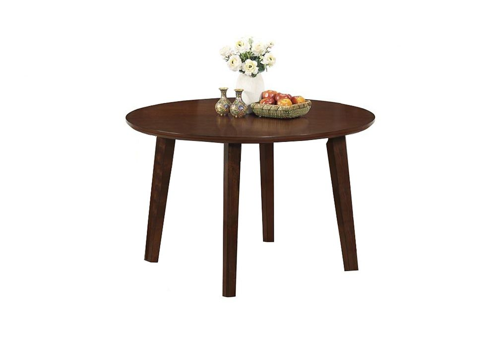 Monarch specialties dining table 48 dia antique oak veneer top the home depot canada - Oak veneer dining table ...