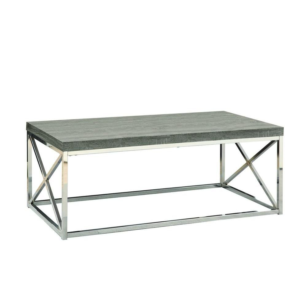Wood-Look Coffee Table in Chrome \u0026 Dark Taupe  sc 1 st  The Home Depot Canada & Coffee \u0026 End Tables | The Home Depot Canada