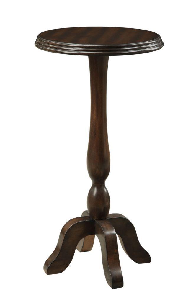 """Accent Table - 16""""Dia / Cappuccino Veneer I 3357 Canada Discount"""