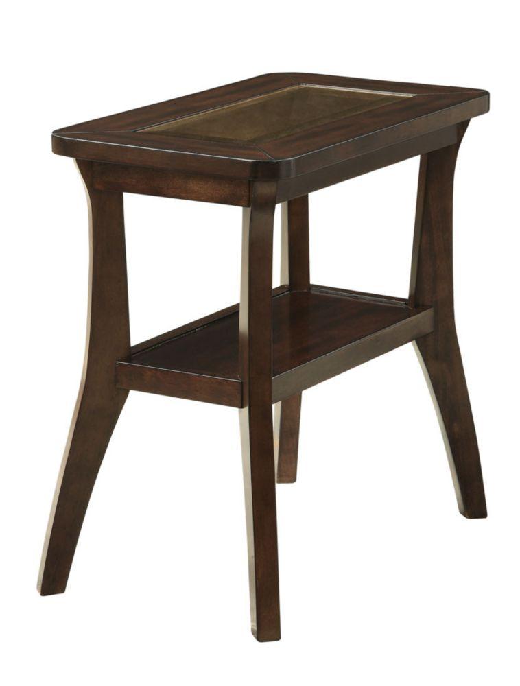 Table D'Appoint - Plaque Noyer Fonce