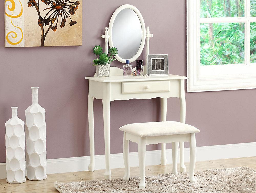 Fabulous Bedroom Vanity Set In Antique White 2 Piece Download Free Architecture Designs Aeocymadebymaigaardcom