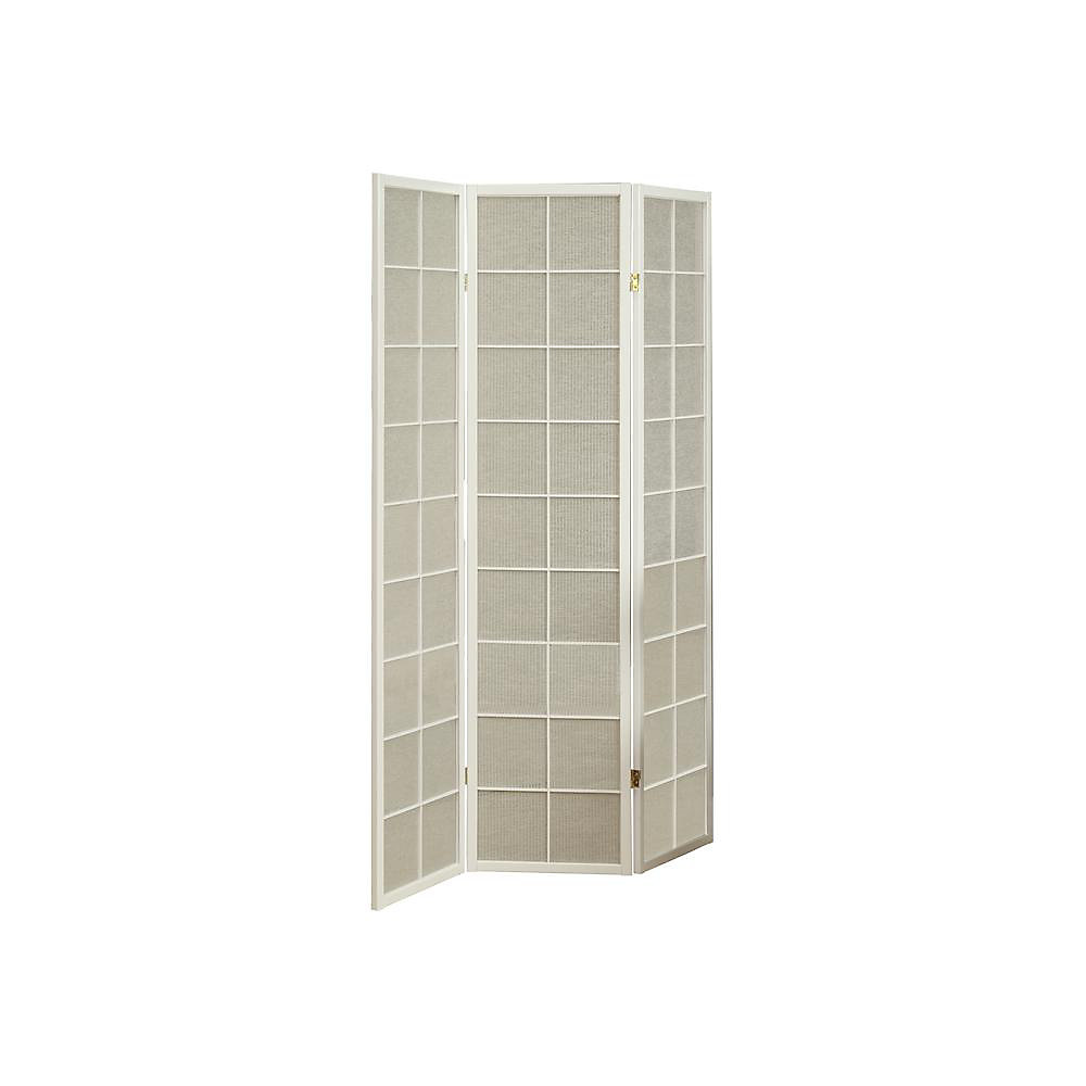 Remarkable 3 Panel Folding Screen Room Divider With White Frame Fabric Inlay Download Free Architecture Designs Scobabritishbridgeorg