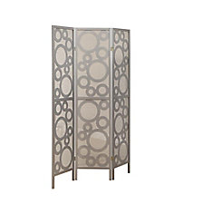 Folding Screen - 3 Panel / Silver