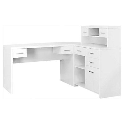 Monarch Specialties 47 Inch X 31 24 Corner Computer Desk In White The Home Depot Canada