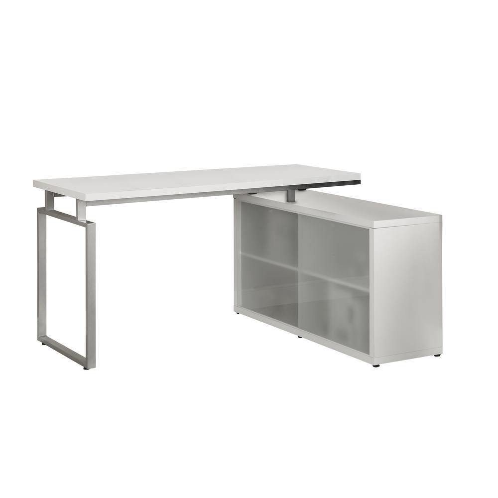 Monarch Specialties Computer Desk White Corner With