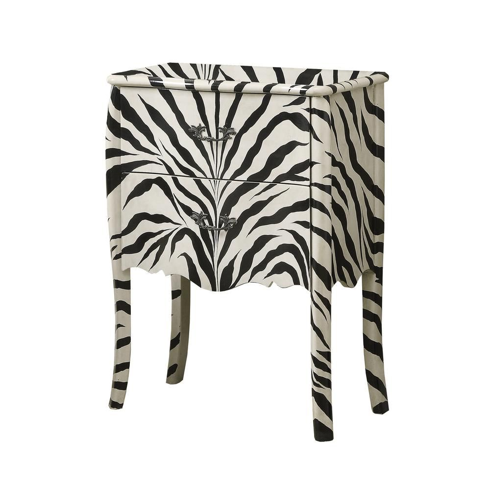 Accent Chest - Zebra Transitional Style