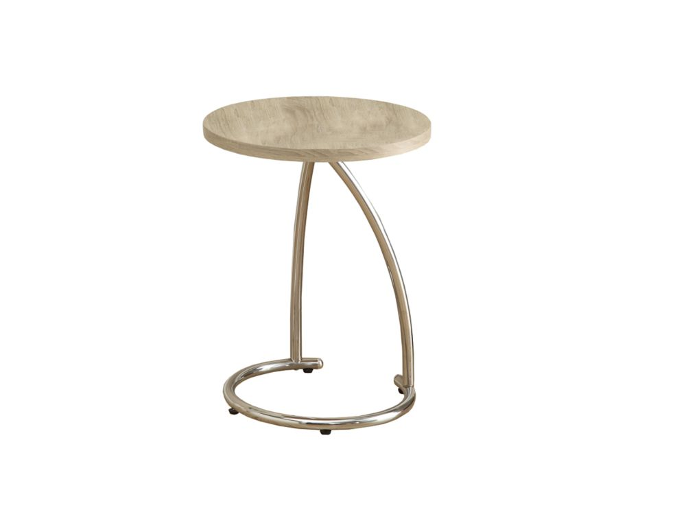 Accent Table - Natural With Chrome Metal I 3209 Canada Discount