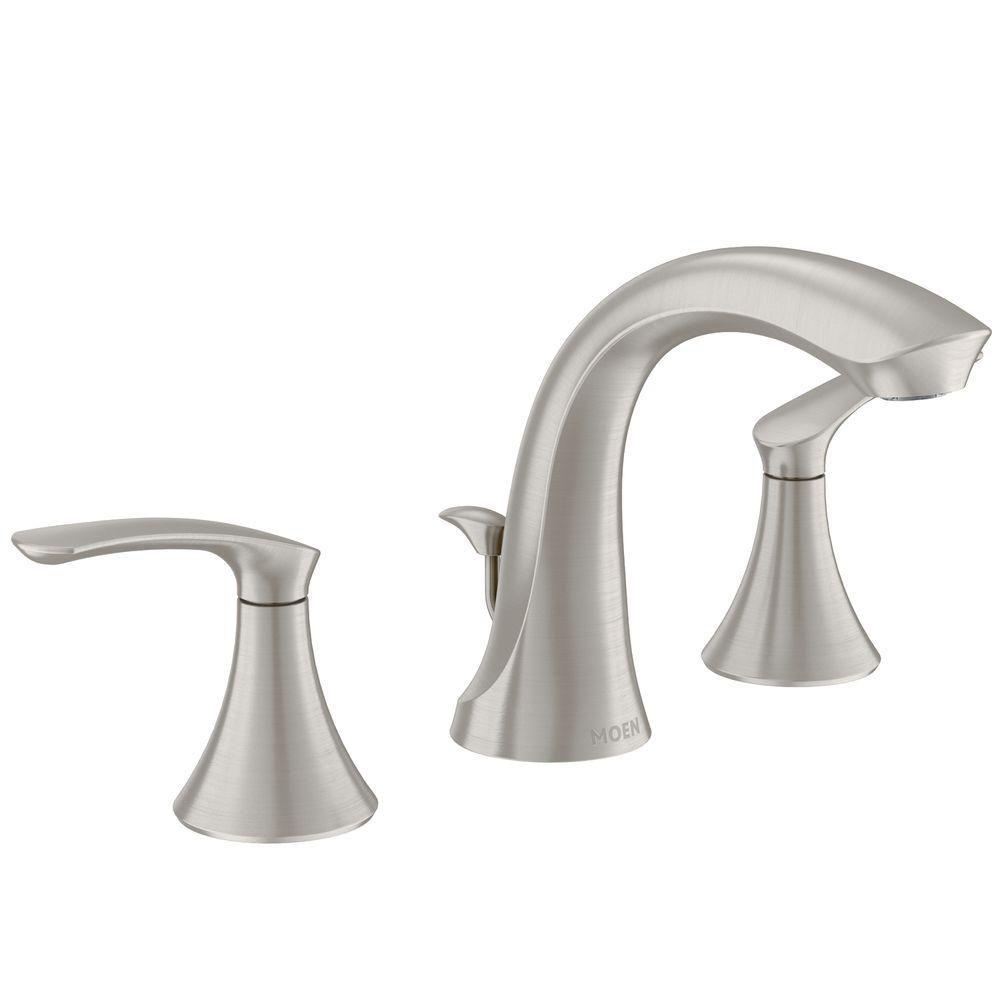 Darcy 8-inch Widespread 2-Handle High-Arc Bathroom Faucet in Spot Resist Brushed Nickel