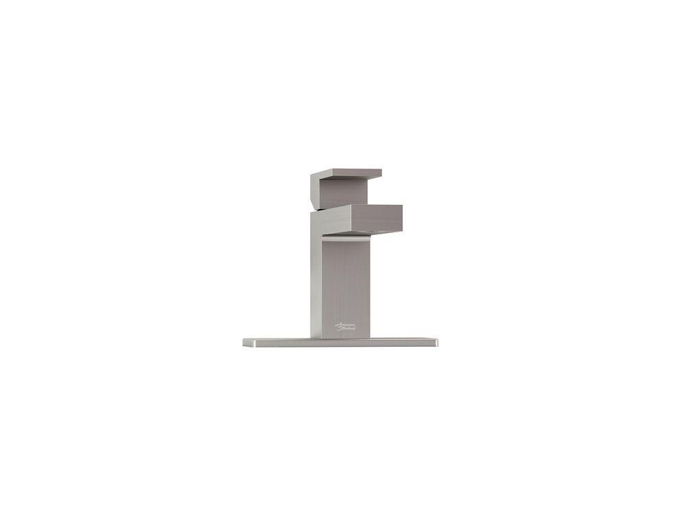 Profilo Monoblock Bathroom Faucet in Satin Nickel Finish