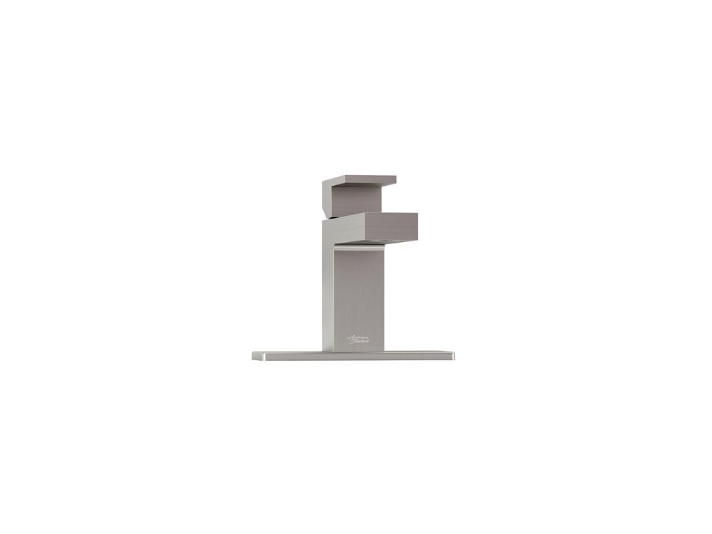 American Standard Profilo Single Hole 1-Handle Mid Arc Bathroom Faucet in Brushed Nickel with Lever Handle