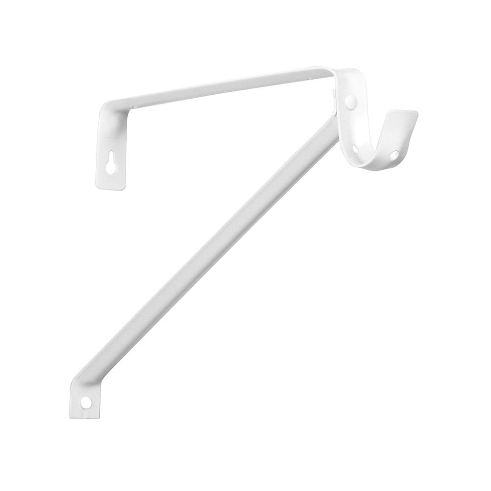 Everbilt White Adjustable Steel Shelf and Rod Bracket