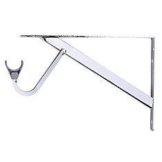 11-inch to 15-inch 1/4-inch Heavy Duty Shelf and Rod Bracket in Chrome