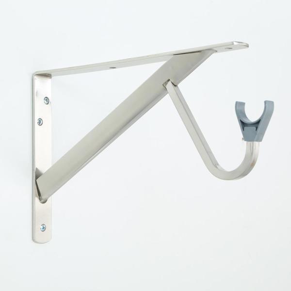 Support tringle et tablette ultra-robuste 11-1/4'' Everbilt  nickel brossé