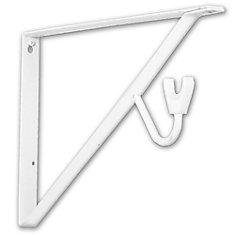 15-inch Shelf and Rod Bracket in White