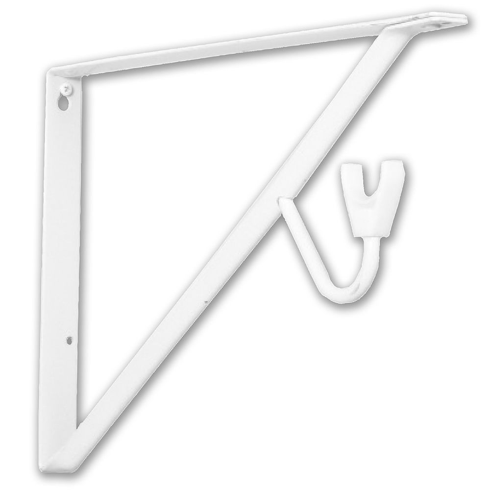 Everbilt 15 Inch White Shelf & Rod Bracket