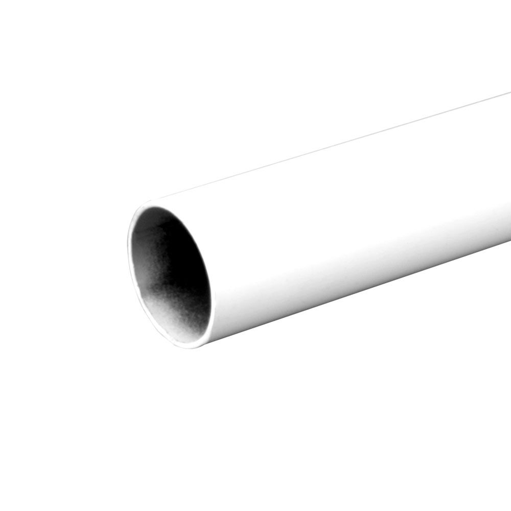 Everbilt 96 Inch White Heavy Duty Closet Rod