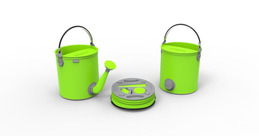 Colourwave Colpaz Collapsible 2-in-1 Watering Can & Bucket in Lime Green