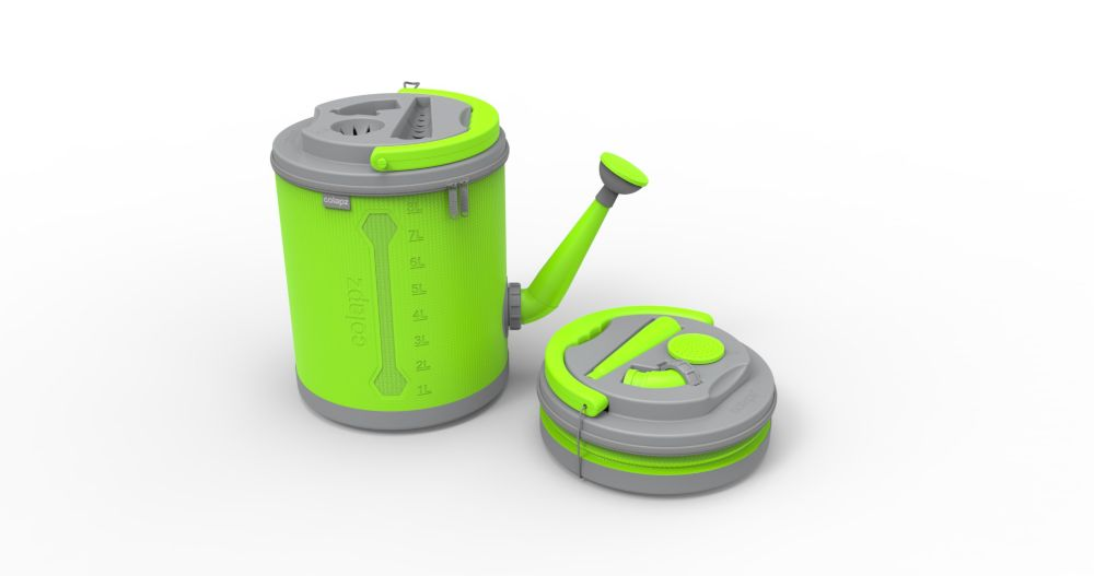 Colourwave Colpaz -Collapsible Watering can Lime green