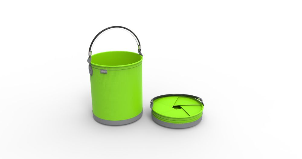 Colourwave Colpaz Collapsible Bucket in Lime Green