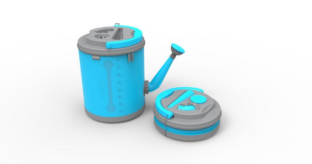 Arrosoir pliant, de couleur aquamarine