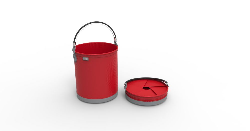 Colourwave Colpaz -Collapsible bucket Red hot