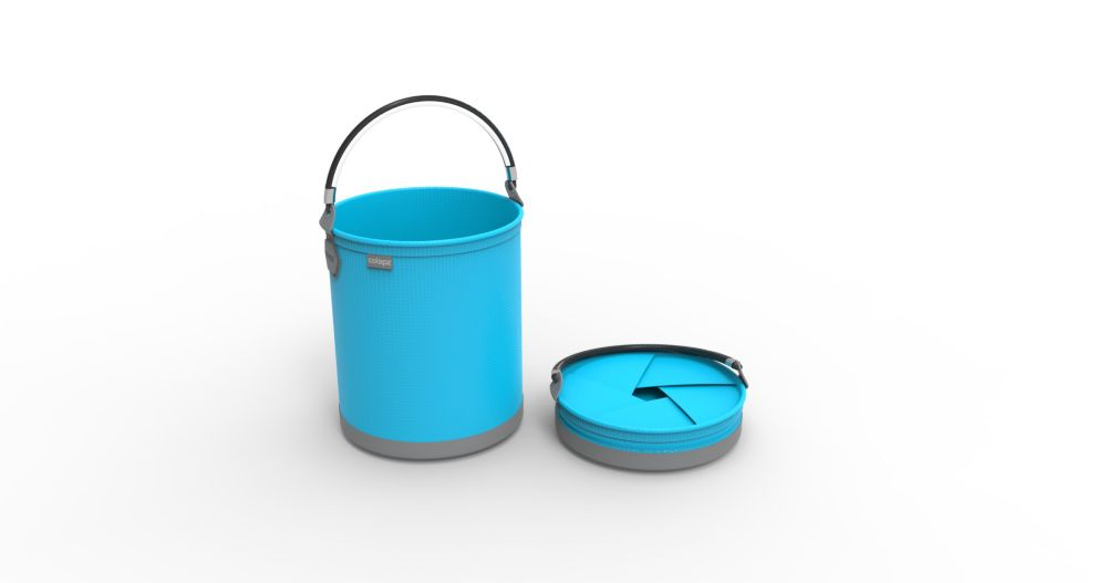Colourwave Colpaz Collapsible Bucket in Aqua Blue