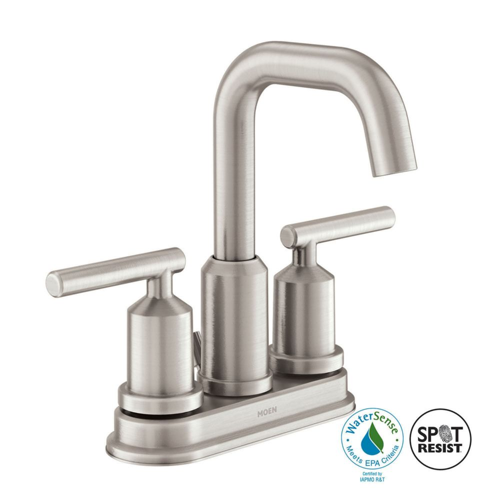 Gibson 2-Handle Bathroom Faucet in Spot Resist Brushed Nickel Finish