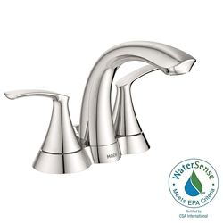 MOEN Darcy 4-Inch Centerset 2-Handle High Arc Bathroom Faucet  with Lever Handles in Chrome