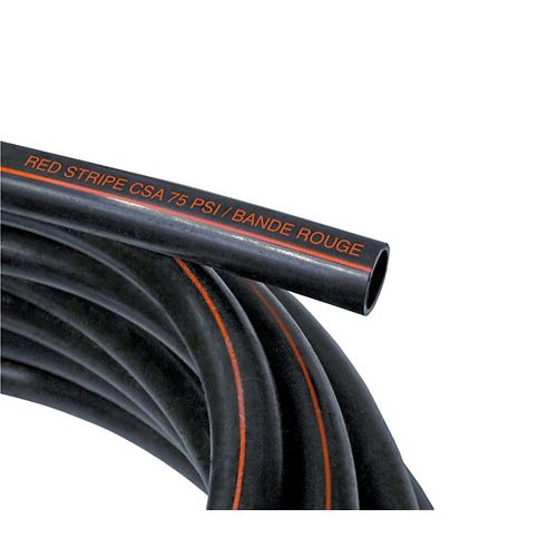 """IPEX HomeRite Products TUYAU POLYCOULEUR bande rouge 75 PSI 1/2"""" X 25'"""