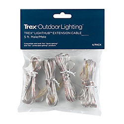 Trex 5 Foot Wire Extension Cable (4-Pack)