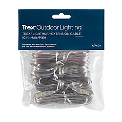 Trex 10 Foot Wire Extension Cable (4-Pack)