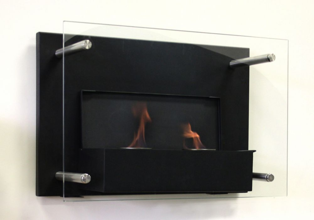 Indoor Gel Fuel Wallmount Fireplace with Build in Snuffer