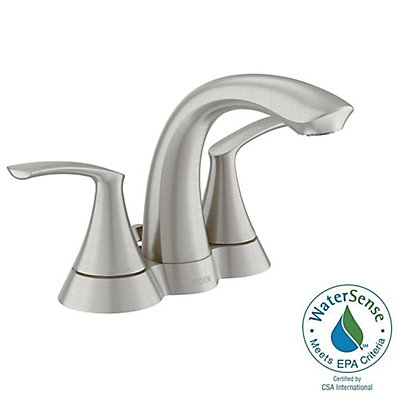 4 inch minispread sink faucets. Darcy 2 Handle Bathroom Faucet in Spot Resist Brushed Nickel Finish Shop Sink Faucets at HomeDepot ca  The Home Depot Canada