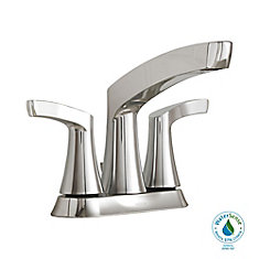 Danika 4-Inch Centerset 2-Handle High Arc Bathroom Faucet with Lever Handles in Chrome