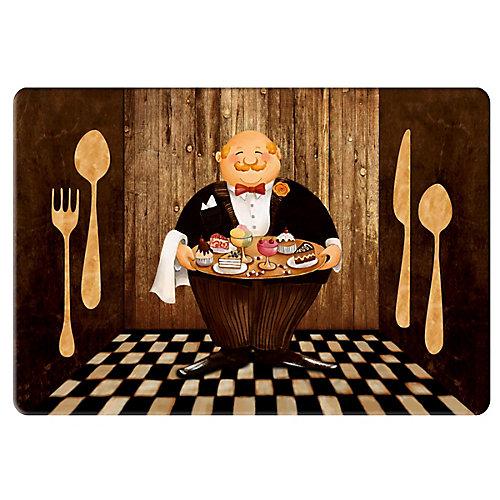 Tapis de Cuisine Anti-fatigue Chefs et Ustensiles - 18 pouces x 30 pouces