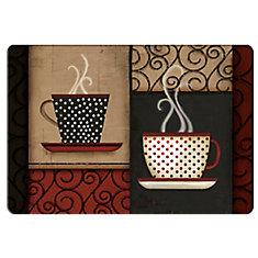 Tapis de Cuisine Anti-fatigue Tasses de Café à Pois - 18 pouces x 30 pouces