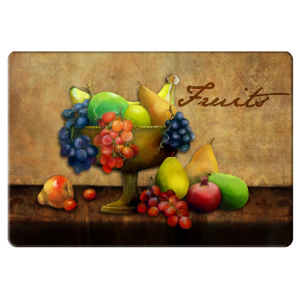 Tapis de Cuisine Anti-fatigue Fruits Classiques - 18 pouces x 30 pouces