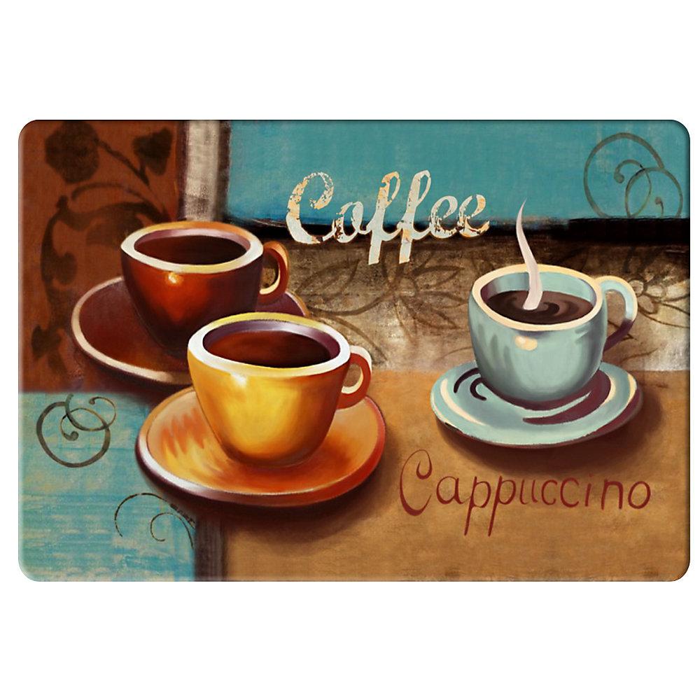 Tapis de Cuisine Anti-fatigue 3 Tasses de Café - 20 pouces x 36 pouces